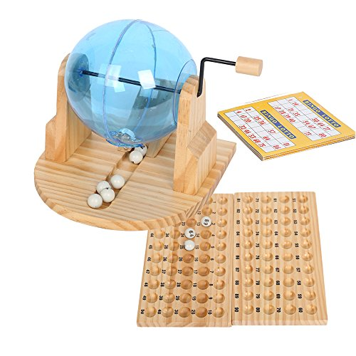COLORTREE Fun Toy Deluxe Cage Bingo Lotto Game with Balls & Cards & - 90 Ball Set