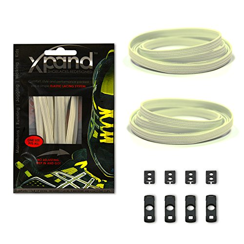 Xpand No Tie Shoelaces System with Reflective Elastic