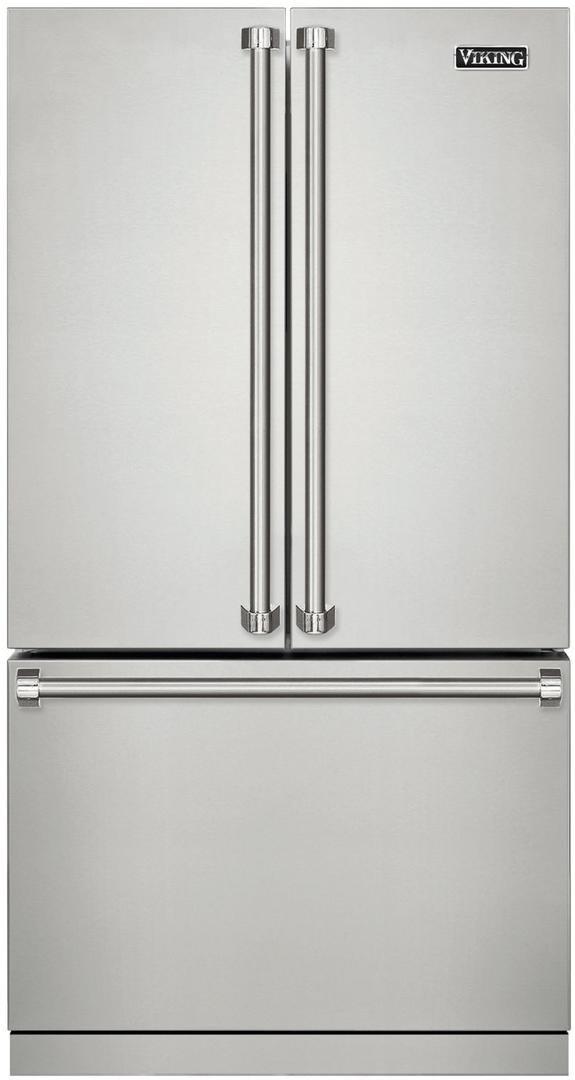 Viking 3 Series 36 inch Sabbath Mode Counter Depth French Door Refrigerator RVRF336SS