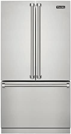Bon Viking 3 Series 36 Inch Sabbath Mode Counter Depth French Door Refrigerator  RVRF336SS