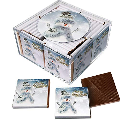 (Holiday Chocolates. Keepsake Box of 36 Belgian Chocolates (Snowman))