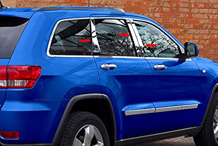 MAXMATE Made in USA Works with 2014-2015 Jeep Cherokee Latitude 6PC Stainless Steel Chrome Pillar Post Trim