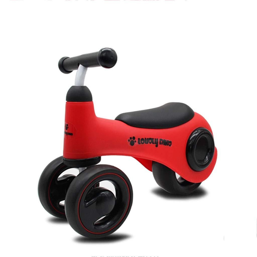 Kinder drehen Auto 135 grad-Grünze lenkung anti-skid eva griff roller 8 cm verbreiterte hinterrad leder sitz balance auto (Farbe   Rot) Rot