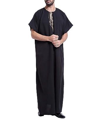 Amazon.com: Vestido de caftán árabe árabe árabe musulmán ...