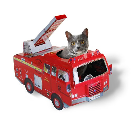 SUCK UK Maison de Jeu pour Chat - Camion de Pompier