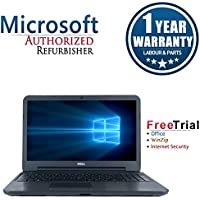 Dell LATITUDE 3540 Laptop 15.6 (Intel Core i3-4010U 1.7G,4G RAM DDR3,250G HDD,DVDRW,Windows 10 Professional)(Certified Refurbished)