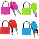 CrownLit™ Set of 4 Small Padlocks for Securing Luggage while Travelling - (Assorted Colors) ANTI THEFT Locks