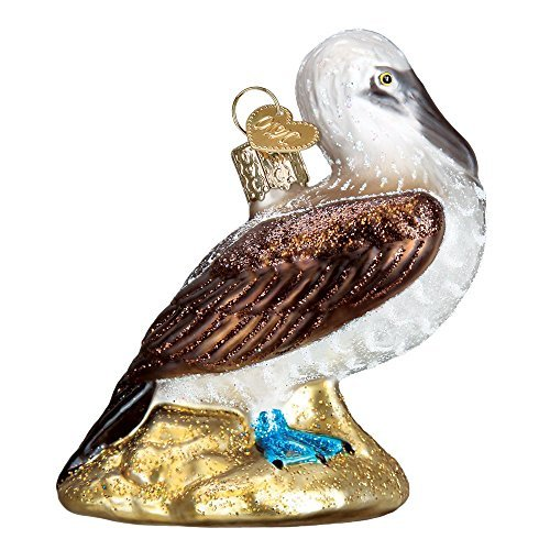 Old World Christmas Glass Blown Ornament Blue Footed Booby (16113)