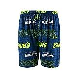 Seattle Seahawks Adult X-Large All Over Logos Sleep Pajamas Shorts - Sleepwear