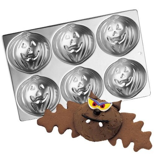 Wilton Mini Halloween Pumpkin Jack-o-Lantern Cake Pan (2105-1499) 6 Cavity -