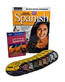 Learn to Speak Spanish Language Deluxe (8 Audio CDS) w/Workbook and Phrasebook