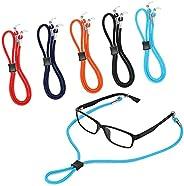 5PCS Premium Nylon Eyeglass Straps, Hidayy Adjustable Eyeglass Chains Lanyard Cord, Anti-slip Eyewear Retainer