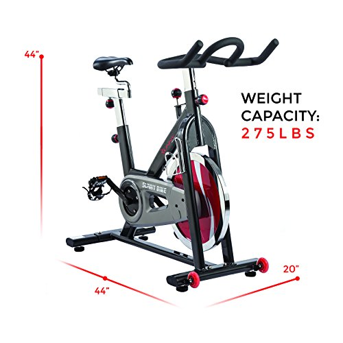 Sunny Health & Fitness Belt Drive Indoor Cycling Bike, Grey by Sunny Health & Fitness (Image #10)