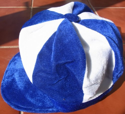Ipswich Town Colours Flat Cap / Jockey Hat - Ideal for Fancy Dress