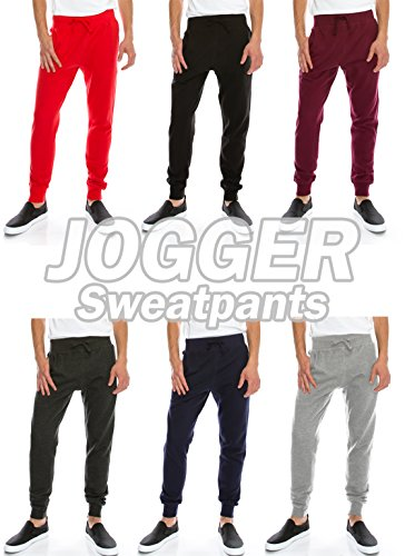 JC DISTRO Mens Hipster Hip Hop Drawstring Jogger Sweatpants Various Colors