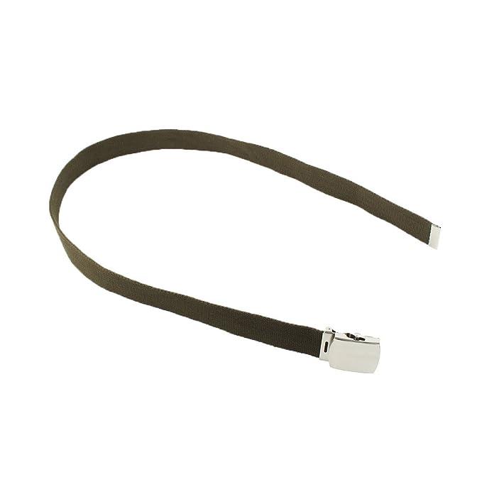 Amazon.com : eDealMax Los adolescentes estudiantes de Nylon Ajustable Casual Web Cintura de la lona Hebilla de cinturón : Sports & Outdoors