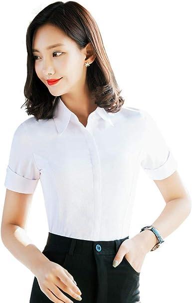 Blusas Y Camisas para Mujer Camisa De Manga Larga Blusa Delgada A Prueba De Fugas De Negocios: Amazon.es: Ropa y accesorios