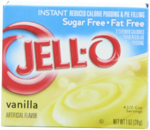 Sugar Free Pudding Pie (Jell-O Sugar Free-Fat Free Instant Pudding & Pie Filling, Vanilla, 1-Ounce Boxes (Pack of 24))