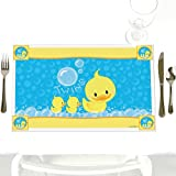 Twin Ducky Ducks - Party Table Decorations - Baby Shower or Birthday Party Placemats - Set of 12