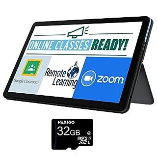 2020 Lenovo Chromebook Duet 10.1 Inch FHD 1200P Touchscreen 2-in-1 Laptop, 8-Core MediaTek Helio P60T, 4GB RAM, 128GB eMMC, Chrome OS + NexiGo 32GB MicroSD Card Bundle