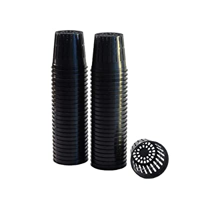 "xGarden 50 Pack Lightweight Economy Net Pot Cups for Hydroponics and Aquaponics - 2"" Diameter Thin Lip Design with Slotted Mesh Sides: Garden & Outdoor"