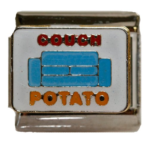 couch-potato-italian-link-bracelet-charm