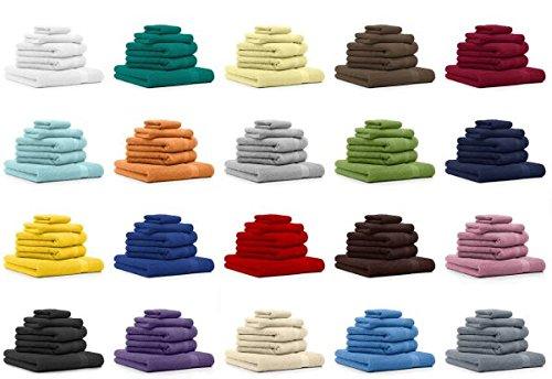 9 opinioni per Betz Set di 5 asciugamani di spugna Premium 100 % cotone 1 asciugamano da doccia