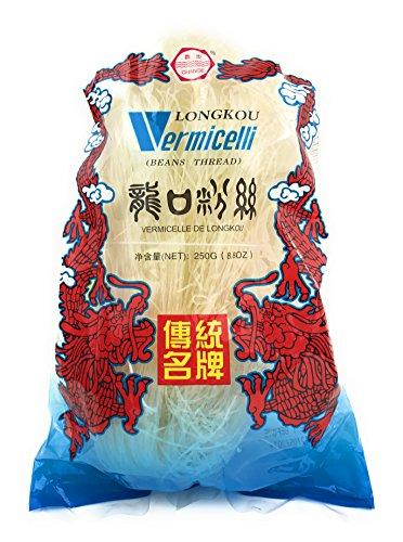 Longkou Vermicelli Beans Thread Asian Noodles, 8.80oz (3 Packs) ()