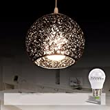 HQLCX Chandelier Originality personality modern simplicity bedroom terrace bar led aluminium wire fishing line pendant lamp,black