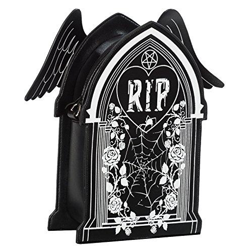 Gothic Shoulder Spider Sleepwalker Backpack Goth Banned Web Wicca Bag Coffin RIP Azn07