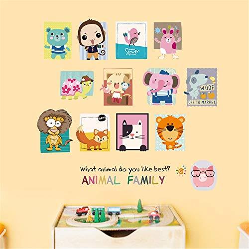 dtcrzj Animal Creativo Familia Flor Chicle Conejo Gato León Niño Niña Niños Sala De Estar Decoración PVC Impermeable...