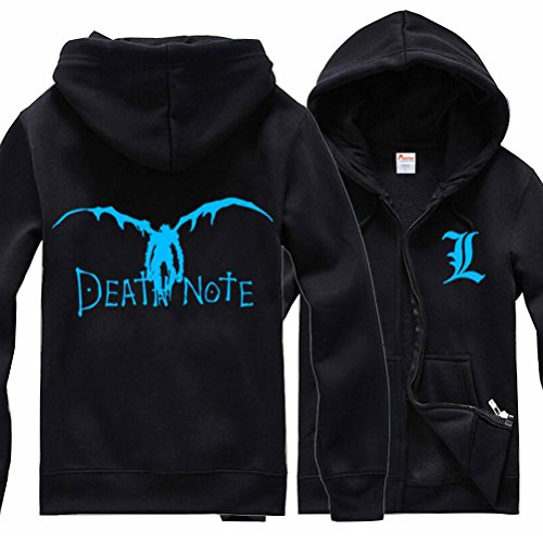 [Poetic Walk death note L Cosplay Costume Unisex Jacket luminous Hoodie (Large, Black)] (L Costume Death Note)