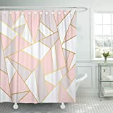 Pink and Gold Shower Curtain Emvency Shower Curtain 66
