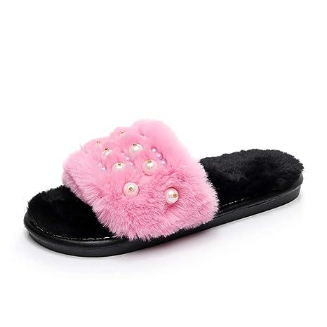 Zapatillas de casa para mujer Zapatillas suaves y cómodas para la mujer Respirable del hotel Casa