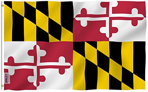 Anley Fly Breeze 3x5 Feet Maryland State Polyester Flag - Vi