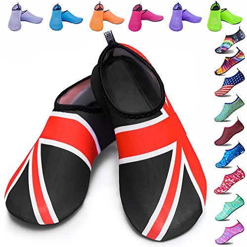 Swim Womens Beach Aqua Dive Skin Exercise Beach Surf Water Peicees Shoes Dry Socks for UK Booties Yoga Shoes Quick Snorkeling Upgraded Flag Water and Mens 8xOw0OzEU