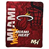 "The Northwest Company NBA Lightweight Fleece Blanket (50"" x 60"") - Miami Heat"