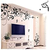 Ularmo 2015 New Hot Hee Grand Removable Vinyl Wall Sticker Mural Decal Art Flowers Vine Picture