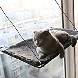 """BobbyPet Cat Window Perch Warm Cotton Fabric - Single Layer 12.5""""x23.2"""" EXTERMELY Durable Suction Cups can Holds Huge Cats Easy Set up Within 5 Minutes"""