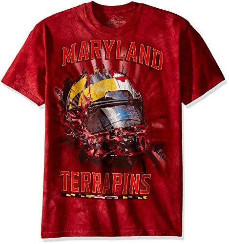 The Mountain Men's Big and Tall U Maryland Bt Helmet Adult T-Shirt, Red, - Outlets Maryland In Clothing
