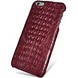 UU&T Handcrafted Crocodile Leather Protective Case for Iphone6 Plus / 6s Plus (5.5inch) [Elite](Classic Red: Back Leather)