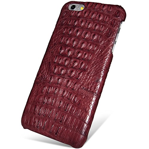 UU&T Handcrafted Crocodile Leather Protective Case for Iphone6 Plus / 6s Plus (5.5inch) [Elite](Classic Red: Back Leather) by UU&T