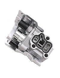 15810-RAA-A03 Válvula de bobina de montaje VTEC Solenoide con interruptor de presión de aceite de cronometría y junta para Honda CRV CR-V Civic Si Element Accord Acura RSX reemplazo # 15810-PNE-G01 15810-PPA-A01 15810-RAA-A01