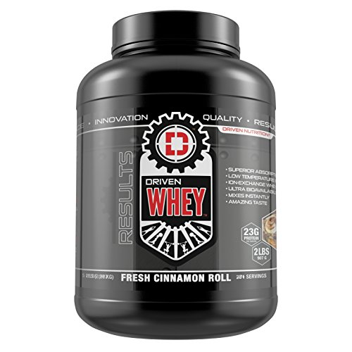DRIVEN WHEY- Grass Fed Whey Protein: The superior tasting whey protein powder- recover faster, boost metabolism, promotes a healthier lifestyle (Cinnamon Roll, 5 lb)