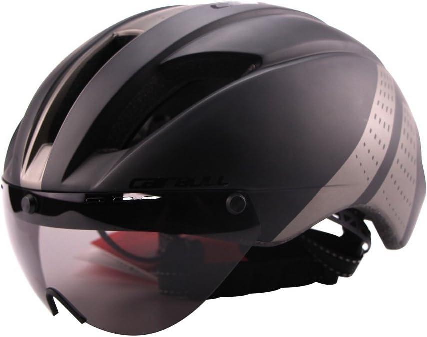 Casco Ciclista Unisex Ligero con Gafas magn/éticas Desmontables Casco aerodin/ámico para Montar en Bicicleta Motocicleta
