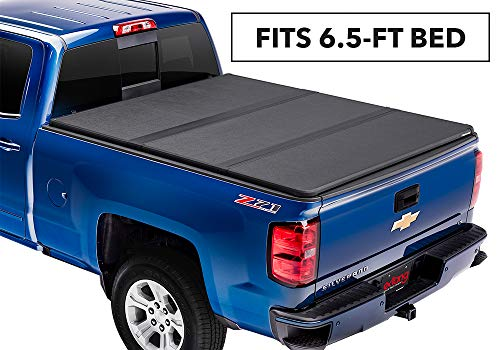 Extang Solid Fold 2.0 Hard Folding Truck Bed Tonneau Cover | 83450 | fits Chevy/GMC Silverado/Sierra 1500 (6 1/2 ft) 2014-18, 2500/3500HD - 2015-18, 2019 Silverado 1500 Legacy & 2019 Sierra 1500 Limited (Best Folding Tonneau Cover For Silverado)