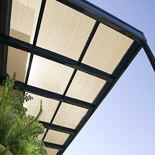 E K Sunrise 6 x 25 Beige Sun Shade Fabric Sunblock Shade Cloth Roll, 95 UV Resistant Mesh Netting Cover for Outdoor,Backyard,Garden,Greenhouse,Barn,Plant Customized