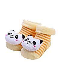 0-6 Month Toddlers Socks,Cartoon Newborn Baby Girls Warm Slipper Shoes Boots Jushye