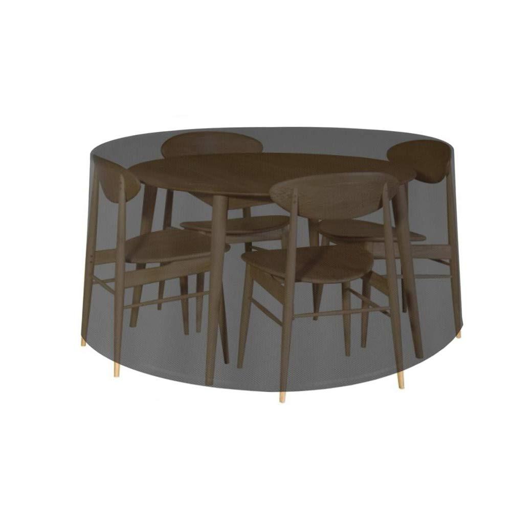 Antipolvere Show 128x71cm Resistente ai Raggi UV FADDR 420D Oxford Rotondo con Coulisse e 2 archetti Telo di Copertura per Tavolo da Giardino Impermeabile per Esterni