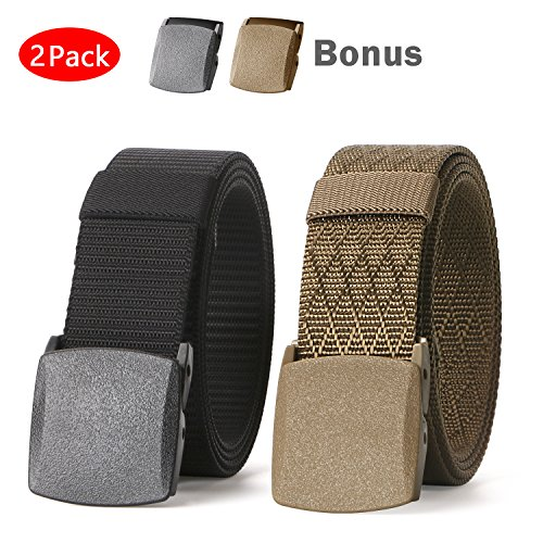Metallic Canvas - JASGOOD Nylon Canvas Breathable Military Tactical Men Waist Belt With Plastic Buckle